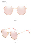FUQIAN Fashion Big Round Polarized Sunglasses Women New Stylish Oversize Metal Outdoor Men Sun Glasses Pink Shades Eyewear UV400