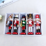 New Year Decor Kids Doll 1Pcs 12cm Wooden Nutcracker Soldier Merry Christmas Decoration Pendants Ornaments for Xmas Tree Decor,Q