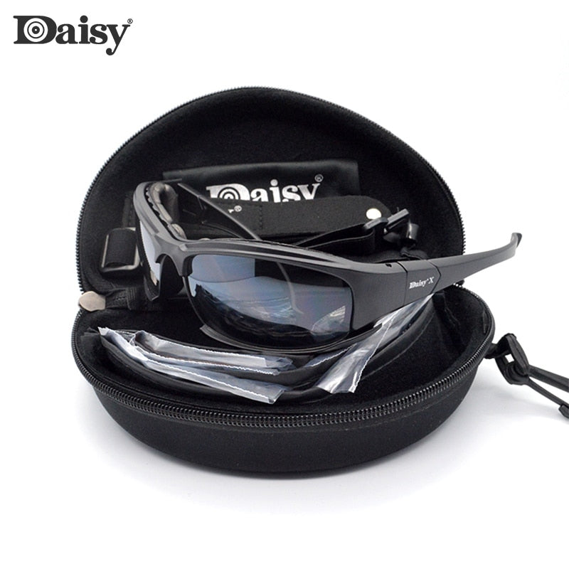 Windproof Daisy Polarized Sun glasses 4 pairs lens Men Brand Design cycling Glasses For Women UV400 Summer Shades Eyewear