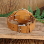 BOBO BIRD Wood Watch Men A22 Bamboo Male Simple Quartz Wristwatch 20mm Leather reloj para hombre