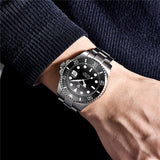 PAGANI Design Brand Luxury Men Watches Automatic Black Watch Men Stainless Steel Waterproof Business Sport Mechanical Wristwatch