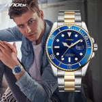 SINOBI Mens Fashion Casual Watches Top Geneve Band Mans Sports Quartz Watch Golden Clock Relogio Masculino Montre Rolexable 2019