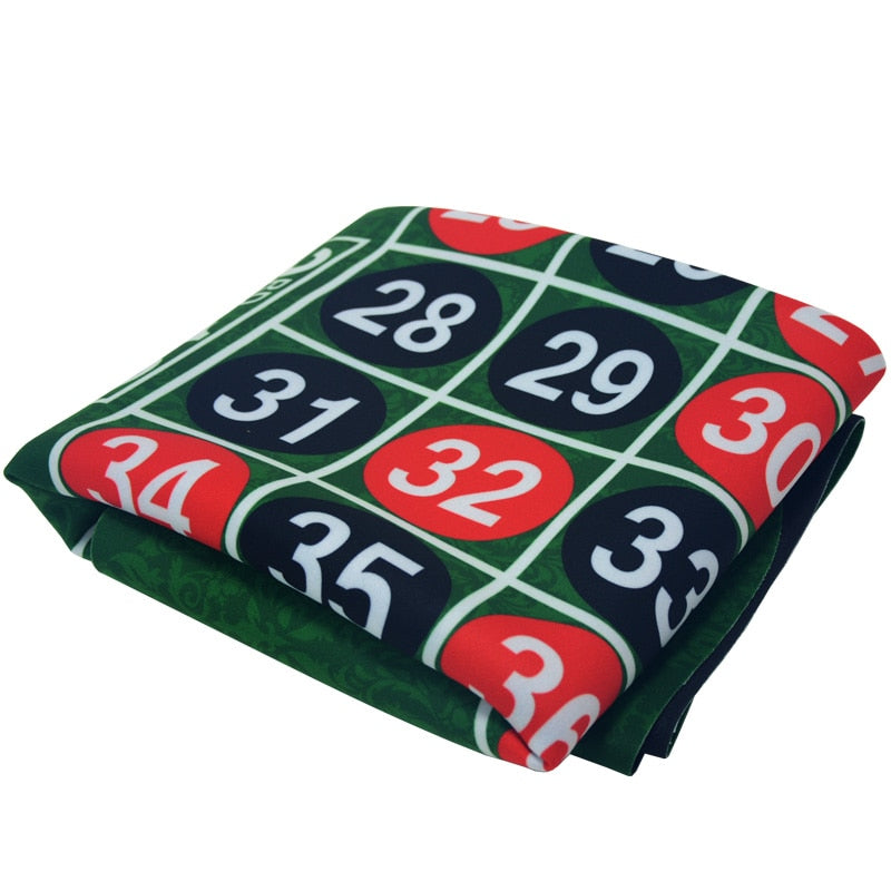 180*90Cm Suede Rubber Square Green Roulette Black Jack Poker Table Mat Poker Gaming Table Cloth Board Cloth with Shoulder Bag