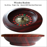 "12"" Wooden Roulette Wheel Dia.30cm Rotary is Metal Materail"