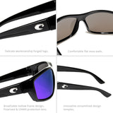 Polarized Sport Sunglasses Metal 3D logo Mirrored lens Men Driving Fishing Sun glasses  UV400 Summer Shades Eyewear women