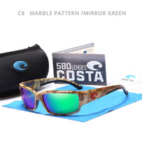 Brand Sport Sunglasses Metal 3D logo Mirrored lens Men Driving Fishing Sun glasses  UV400 Summer Shades Eyewear women