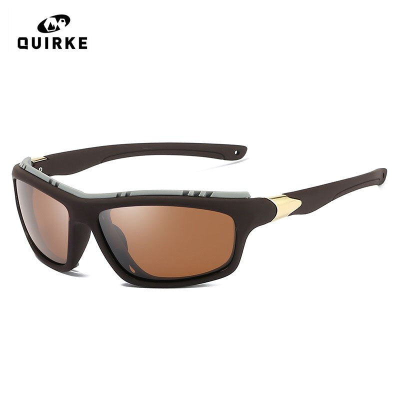 Quirke Men Polarized Army Sun glasses Outdoor Google Military Sunglasses Boy Driving Sport Glass Steampunk For Male Gafas de sol