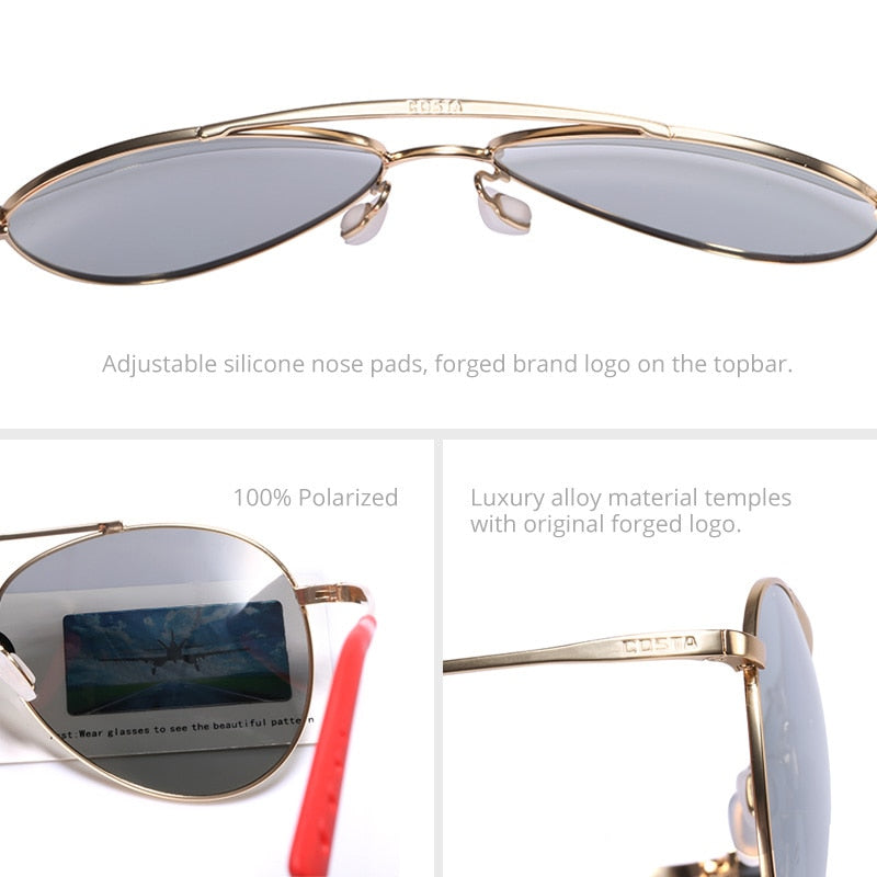Brand Men Sunglasses Pilot Metal Polarized mirror lens outdoor fishing women Eyewear UV400 Goggle outdoor 4 colors