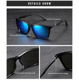 New Square RAYKILLER Polarized Sunglasses For Men Party Mirrored Fishing Eyewear UV400 Driving Outdoor with Case