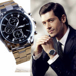 Men's Watches Stainless Steel Band Machinery Luxury Sport Quartz Men Watch Orologio Donna Business Watches For Men Gift Clock