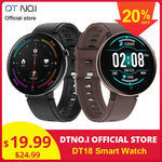 DT NO.1 DT18 Smart Watch Round Touch Screen Smartwatch Heart Rate Intelligent Fitness Tracker IP67 Sports Fashion Bracelet Men
