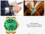 Luxury Brand Men Rolexable waterproof Watch Stainless Steel Strap Quartz watch Male Sports Large dial Watches relogio masculino