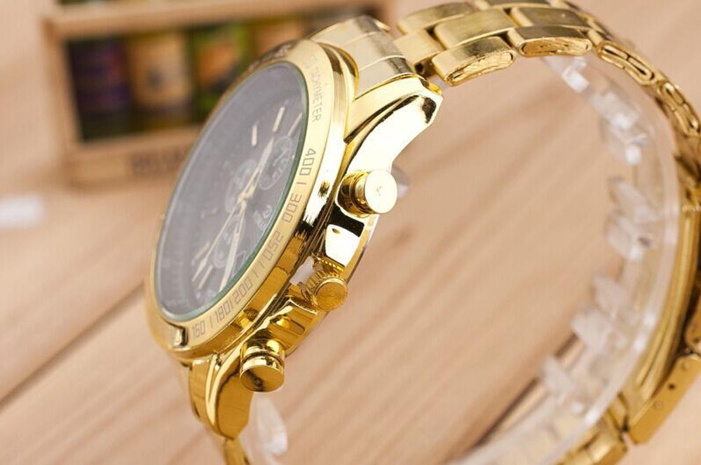 Zerotime #501 2019 NEW Wristwatch Men Stainless Steel Watch Analog Quartz Movement Wrist Watches Luxury top gold Free Shipping