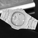 Silver Gold Hip Hop Mens Watches Top Brand Luxury Diamond Iced Out Watch Men Quartz Steel Female Male Clock relogio masculino