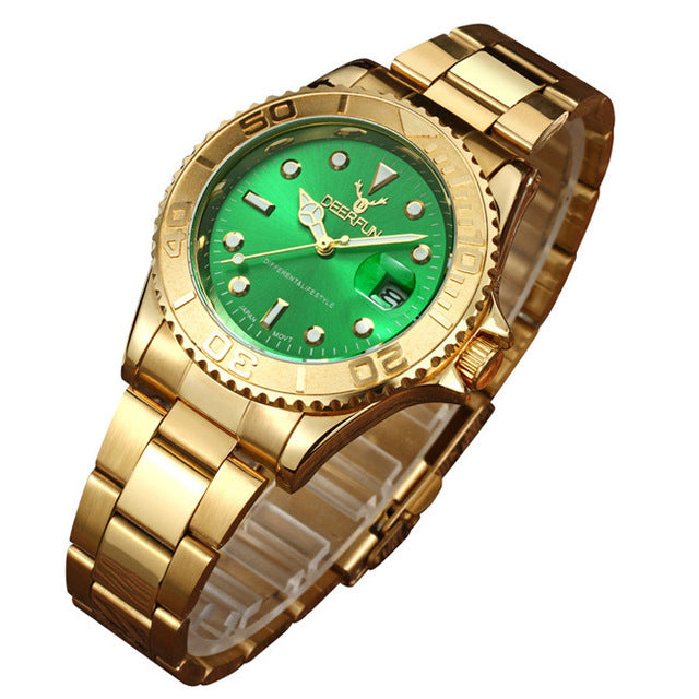 Men Watch Deerfun brand business Water ghost diamond fashion calendar luxury male waterproof quartz wristwatch Relogio Masculino