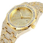 2019 HOT New style  Men watches Gold Hip Hop Luxury Watch Diamond Watch Iced Out Watches Stainless Steel Men Quartz Movement