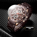 NAVIFORCE Men's Business Sports Waterproof Quartz Watch Alloy Large Dial Three Needle Steel Strap Mens Watches Top Brand Luxury