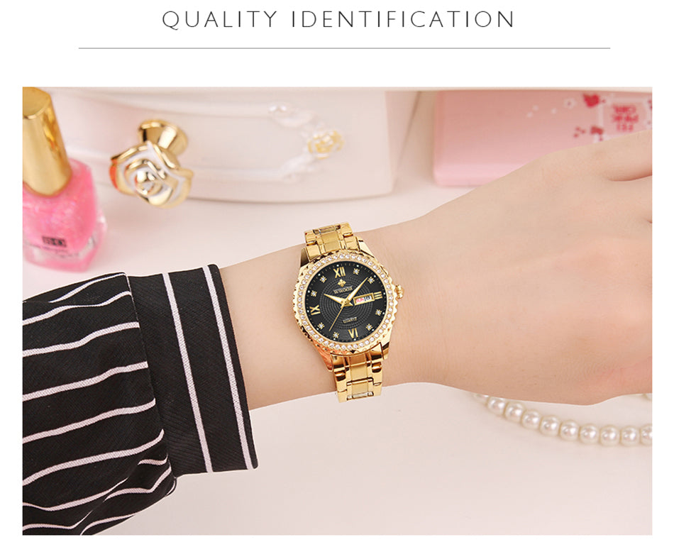 WWOOR New diamond Women Bracelet Watches Waterproof Ladies Watch Stainless Steel fashion Dress Quartz Watch Women Reloj Mujer