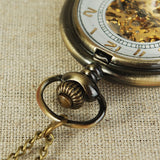 Mechanical pocket watch retro hollow mechanical Pocket Watch Simple Retro Style Watches Open For men and women with