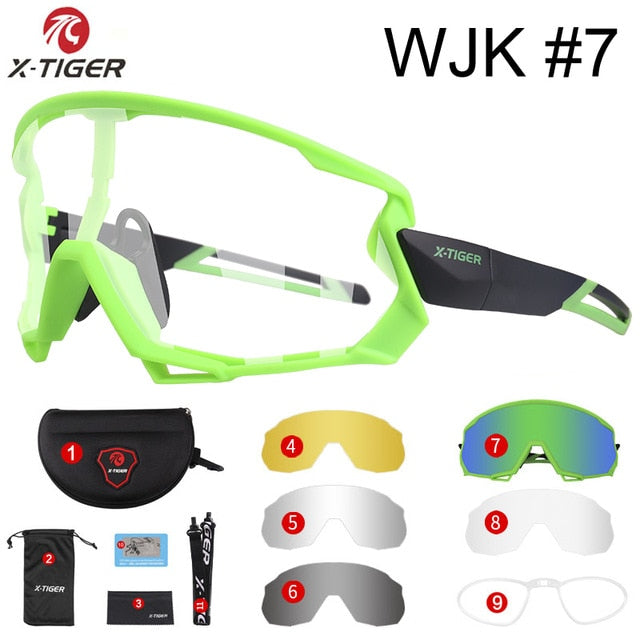 X-TIGER Polarized & Photochromic Cycling Glasses Outdoor Cycling Goggles Bike Glasses Sports MTB Bicycle Sunglasses Bike Eyewear