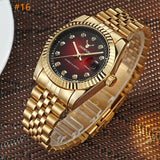 Men watch Deerfun brand business gold diamond fashion calendar luxury waterproof quartz wristwatch Relogio Masculino
