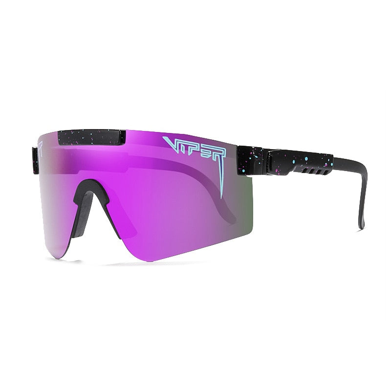 New Oversized Men Sunglasses polarized mirrored RED PURPLE BLUE lens tr90 frame protection Men Sport pit viper high quality