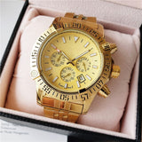 Luxury Brand Watch Men Chronograph Men's Watch Quartz AAA Watches with Stainless Steel Strap montre homme