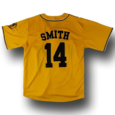 Cheap Retro Will Smith 14# Jerseys Bel-Air Academy Yellow Stitched Baseball Jersey