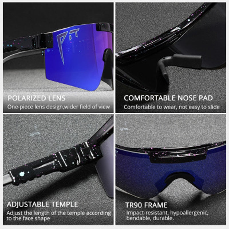 2020 Original mirrored pit viper polarized sunglasses men sport goggle TR90 frame UV400 polarized sunglasses for outdoor man/wom