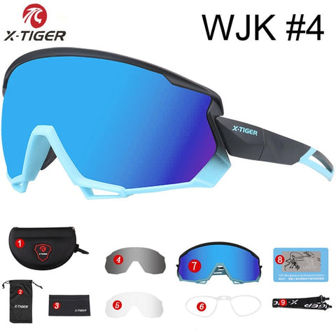 X-TIGER Pro Wind Cycling Glasses Polarized Sports Road Bicycle Glasses MTB Bike Sunglasses Goggles Mountain Bike Cycling Eyewear
