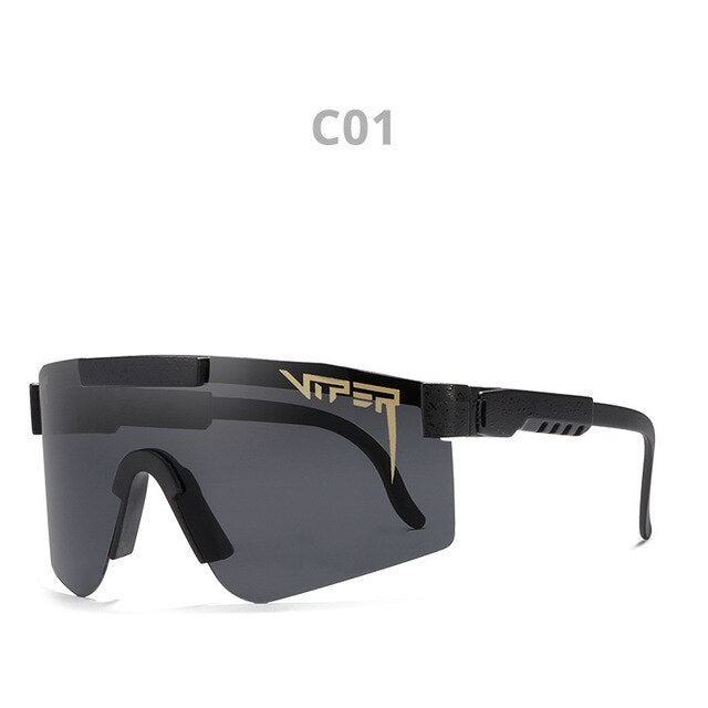 PIT VIPER Oversized Polarized Sunglasses Women Men High Quality Mirror Lenses Tr90 Frame UV Protection Goggles New Arrival PV01