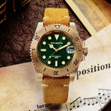 San Martin Diver CuSn8 Bronze Water Ghost Luxury 3D Printing Surfing Dial Sapphire Crystal Men Automatic Mechanical Watch