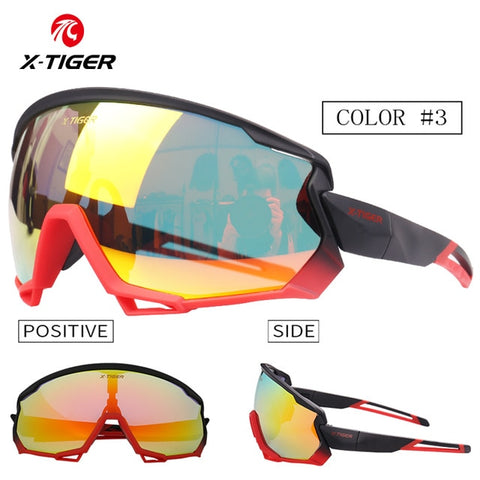 X-TIGER Polarized Cycling Sun Glasses UV400 Men Women Bicycle Goggles Glasses 5/3 Lens MTB Sports Windproof Sunglasses Eyewear