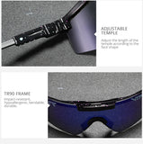 Pit Viper Flat Top Eyewear Tr90 Frame Blue Mirrored Lens Windproof Sport Polarized Sunglasses For Men Women Cycling Sunglasses