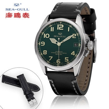 Seagull watch original official authentic wild military watchband accessories leather strap