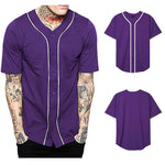 Mens Baseball Jersey Button Down Shirts Active Team Sports Hombre Camisetas Hip Hop Shirt Tops Custom Number Name Various Colors