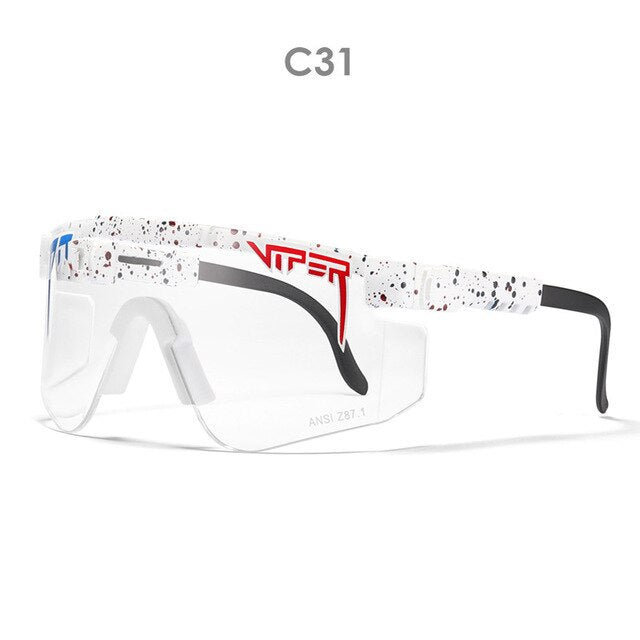 Sunglasses for women rimless  Goggles oversized mens sun glasses pit viper White temples transparent lense luxury brand
