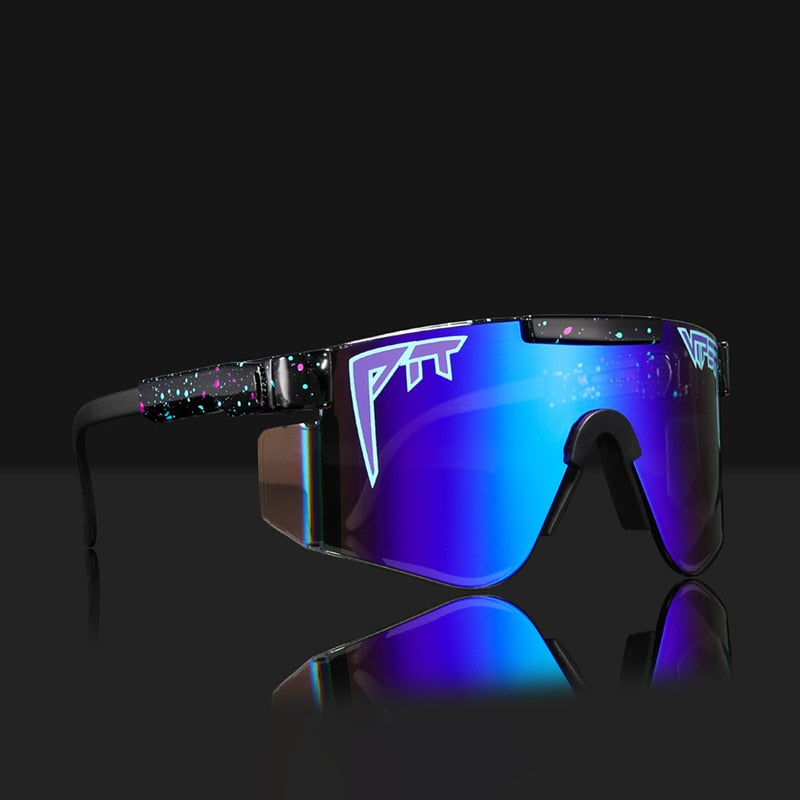 Pit Viper Original Oversized Semi Rimless Sunglasses Men UV400 Half Frame Fashion Sports Goggle Big Mirror Shades With Box