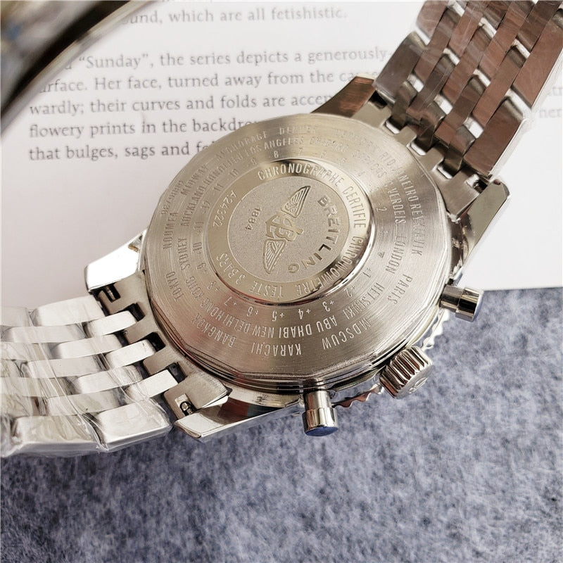 Breitling- high-end brand men's mechanical wrist watch men's watch stainless steel band classic fashion watch 15