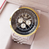 Breitling- high-end brand men's mechanical wrist watch men's watch stainless steel band classic fashion watch 01