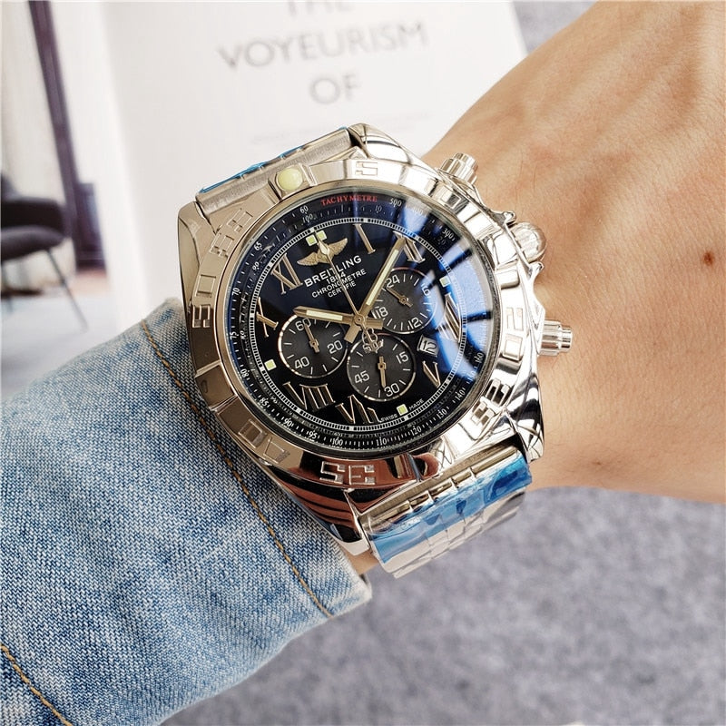 2020 Breitling Luxury Brand  Wristwatch Mens and  Woman Watches Mechanical  Watch with Steel Strap relojes hombre automatic14