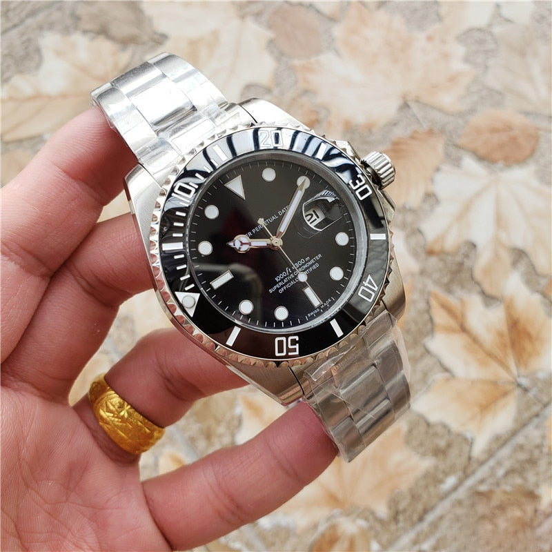 Quality AAA Stainless steel RLX-Water ghost Automatic mechanical watch Swiss luxury brand Business wrist watches designer clock