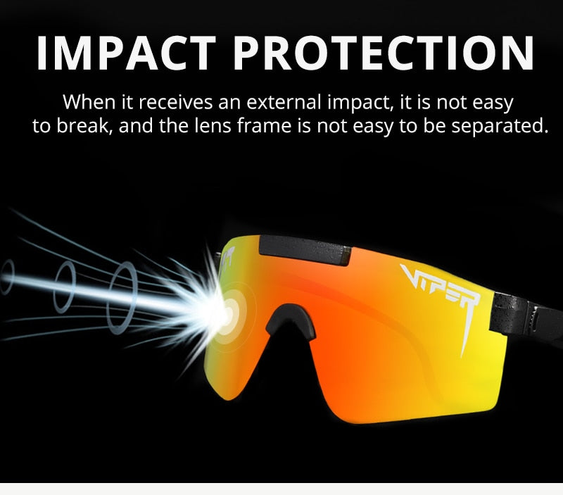 Rimless Oversized One Piece Polarized Pit Viper Sunglasses Man Flat Top Mirror Sport Goggle Windproof Male Eyewear With Box