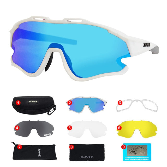Cycling Sunglasses Professional Polarized Cycling Glasses MTB Road Bike Sport Sunglasses Bike Eyewear UV400 Bicycle Goggles