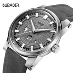 OUBAOER Original Mens Watches Top Brand Luxury Watch Leather Clock Business Watches Relogio Masculino Horloges Mannen Erkek Saat