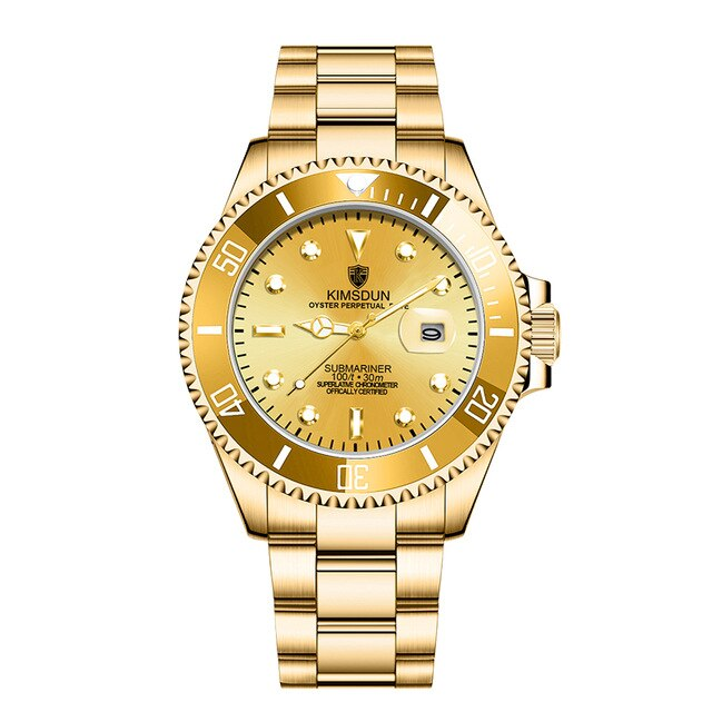 Brand Automatic Mechanical Mens Watch KIMSDUN Men Watch Waterproof Wristwatch Men's Fashion Gold Watch Relogio Masculino K-1022A