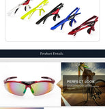 Polarized Cycling Glasses Sunglasses Men Eyewear Bicycle Sport Glasses Gafas Oculos Occhiali Ciclismo Fietsbril 5 Lens E-0091
