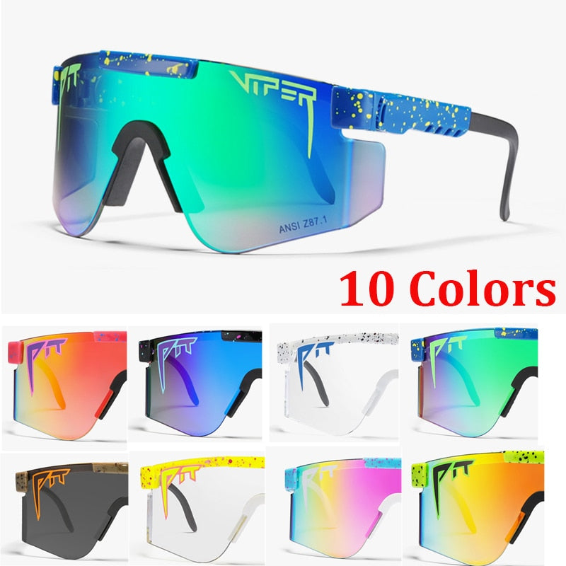 Fashion Brand Pit viper Sunglasses Men/Women Colorful Mirrored Sun Glasses For Male Female UV400 Protection Goggles With Case