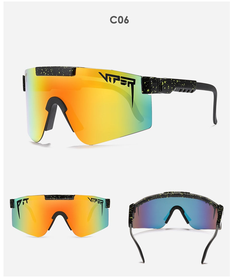Original Pit Viper flat top eyewear tr90 frame Windproof Sport Polarized Sunglasses for men/women 100% UV Mirrored lens 19 color
