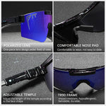 PIT VIPER Sports Polarized Sunglasses Men Women TR90 Frame Flat Top Reflective Mirror Lenses Open Air Windproof Goggles PV01